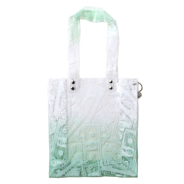 BILLS PRINT PVC TOTE (GRN)