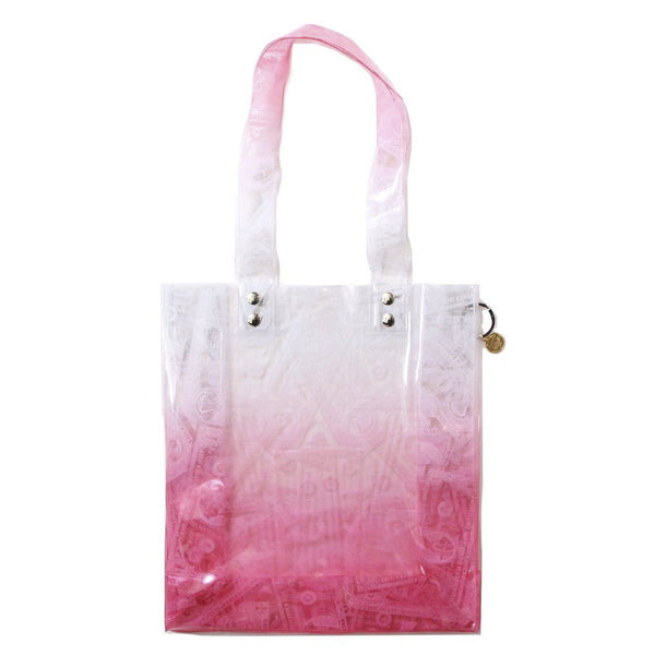 BILLS PRINT PVC TOTE (PNK)