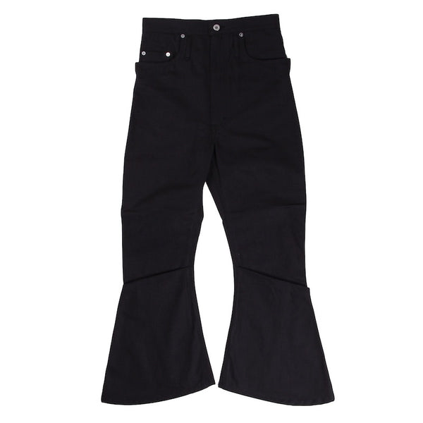 RECYCLED COTTON CANVAS 3D BOOTS CUT JEANS (BLK)