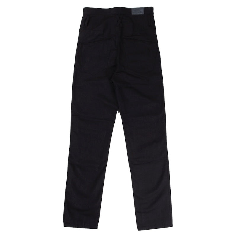 RECYCLED COTTON CANVAS SLIM LEG RUMBLE JEANS (BLK)
