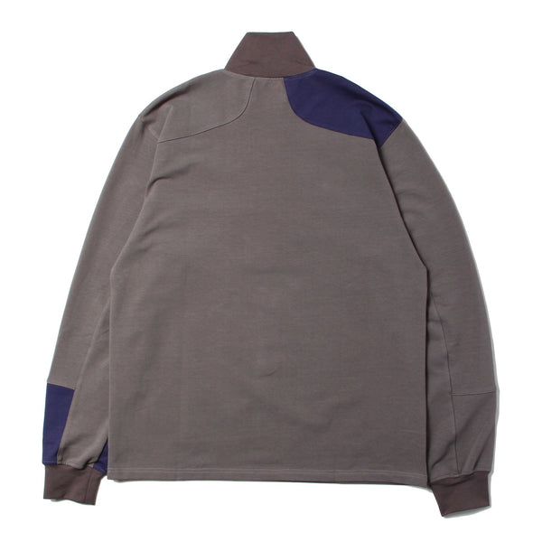 PANEL HALF ZIP TOP (GRY×MLT)