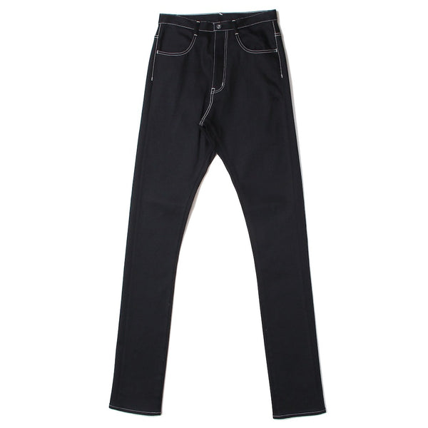mens straight denim pants (BLK)
