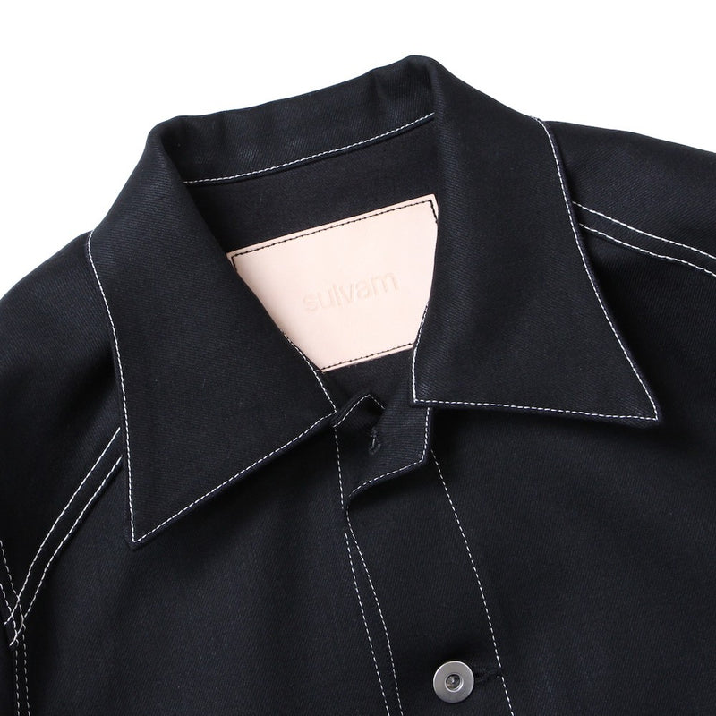 mens slim denim jacket (BLK)