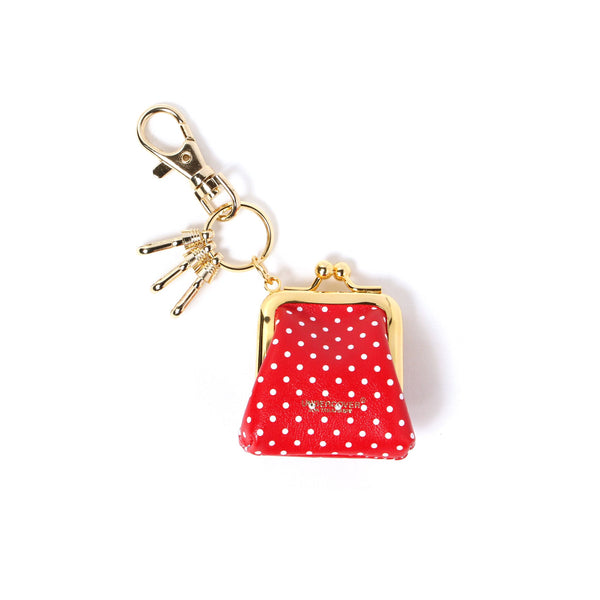 Polka Dot Key Charm (RED)