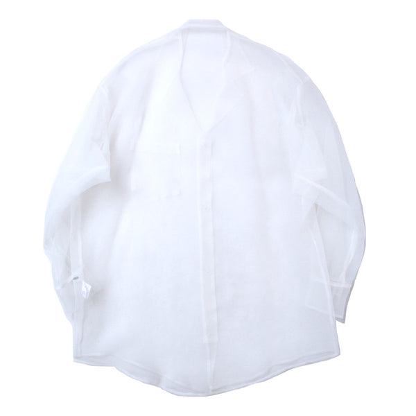 organdy over shirt (WHT)