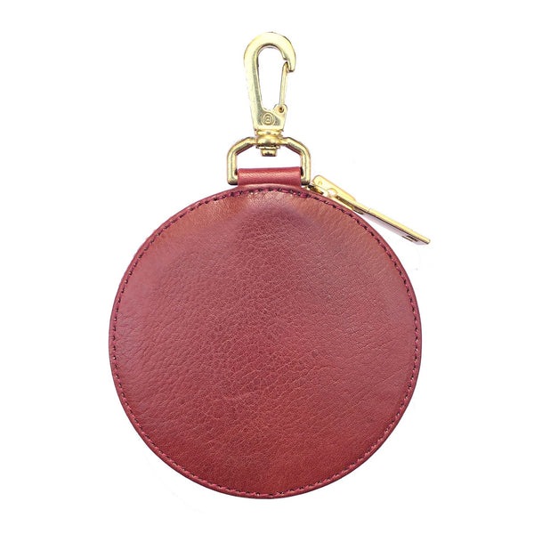 EMBROIDERY LEATHER COINCASE (945-75GAC13-4) RED