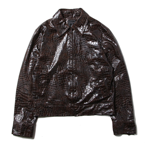 1990's Dexter Wong - Croco Fake Leather Tracker Jacket