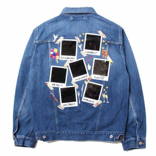 MEMORIAL POLAROID DENIM JACKET (IDG)