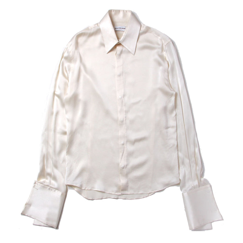 1990's Thierry Mugler - Silk Snap Button Dress Shirt