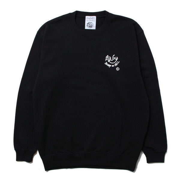 CAUSE TROUBLE CREW (BLK×WHT)