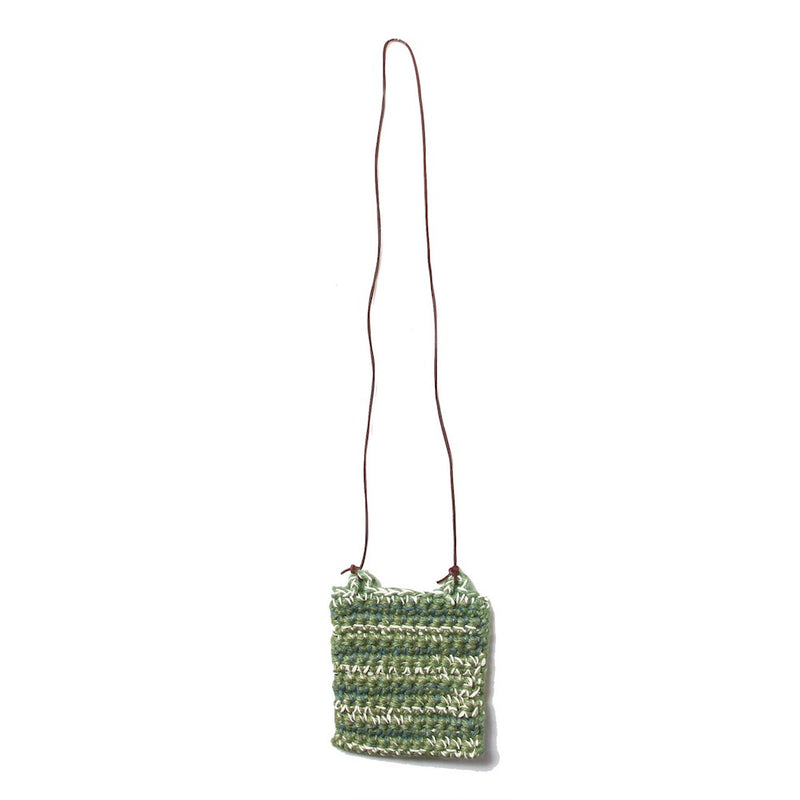 HAND CROCHET NECK POUCH (ND-SS21-HCNP1-JCY-GNN) Green