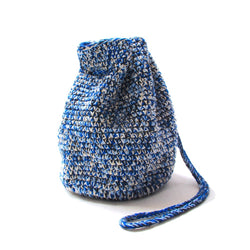HAND CROCHET DRAWSTRING BAG (ND-SS21-HCDB1-JCY-BLN) Blue