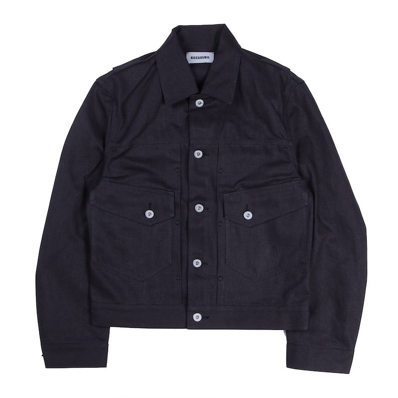 RECYCLED COTTON CANVAS TYPE Ⅱ JEAN JACKET (BLK)