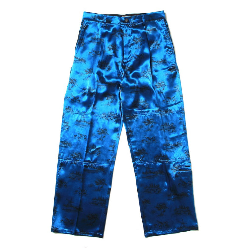 "Exclusive ""DAYDREAM"" Printed Modified Farmers Trousers (M211-0404) Blue"
