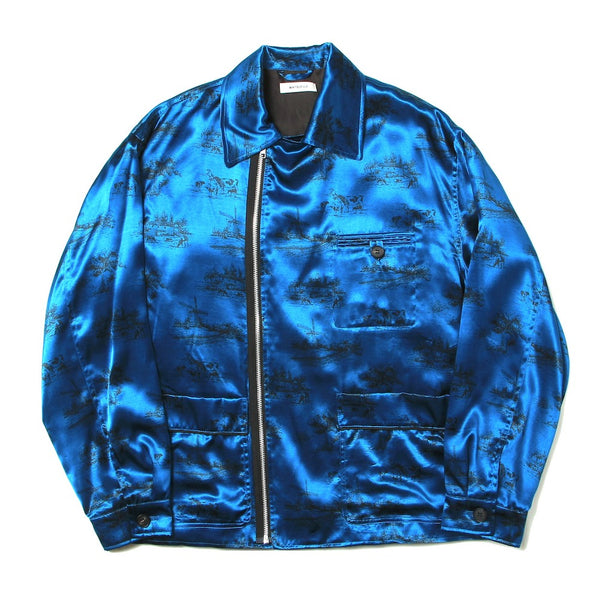 "Exclusive ""DAYDREAM"" Printed Modified Farmers Jacket (M211-0103) Blue"