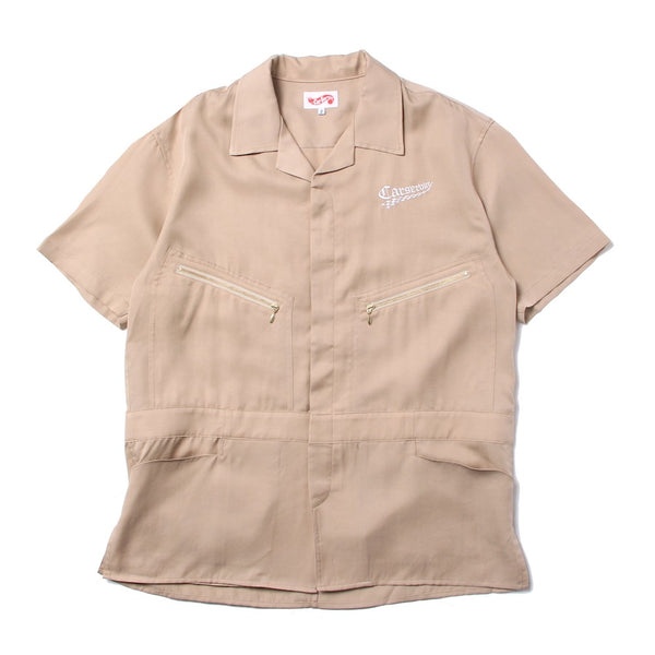 Checker Logo 5 Pocket Work Shirt (CS-21SS-SHT01) Beige