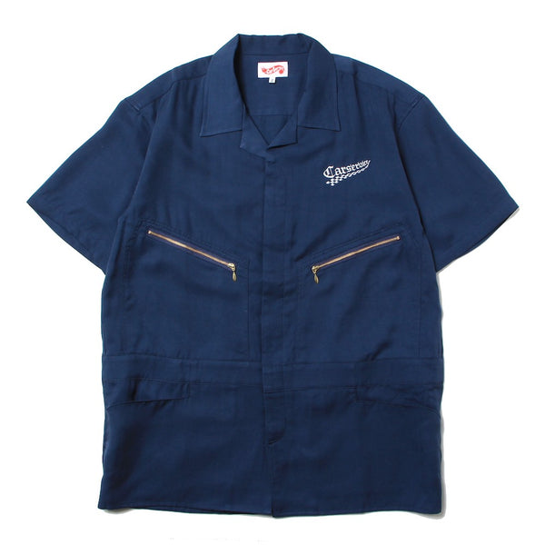 Checker Logo 5 Pocket Work Shirt (CS-21SS-SHT01) Navy