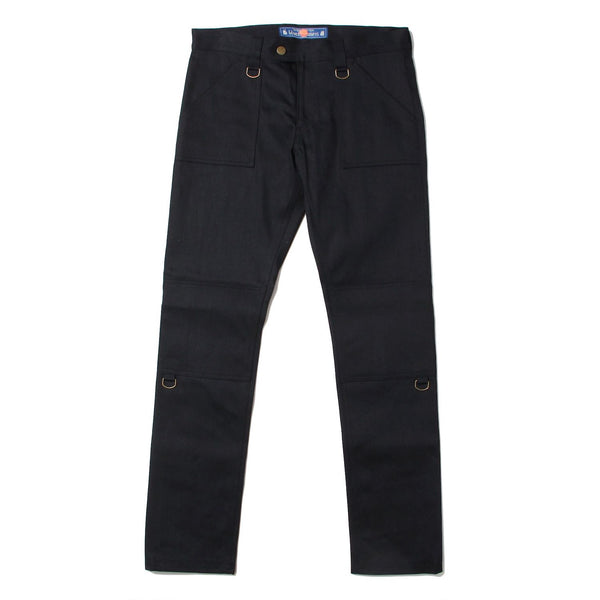 Stretch Denim Zip Pants (BLK)