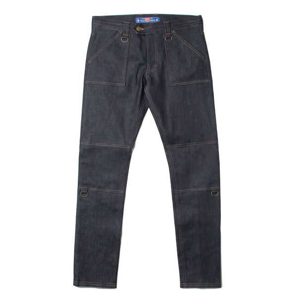 Stretch Denim Zip Pants (IDG)