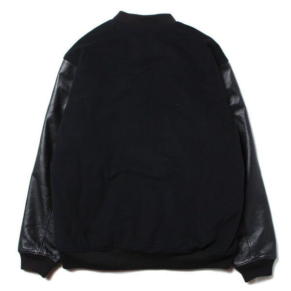 8DAYS A WEEK - MASTERPIECE / Leather Sleeve Stadium Jacket (BLK)