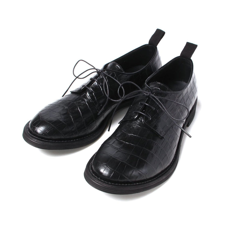 Exclusive Croco Postman Shoes (BLK×CRC)