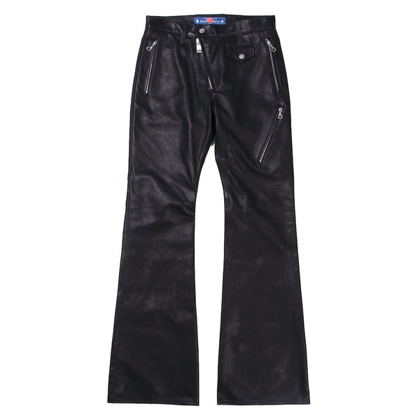 Exclusive Leather Flare Pants (BLK)