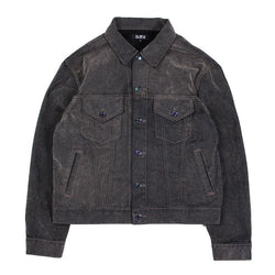 FLOACKING DENIM JACKET (GRY)
