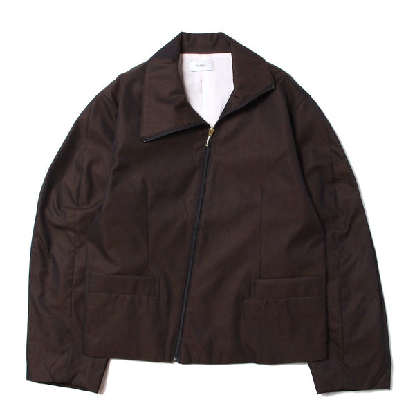 LUKIN HI-NECK BLOUSON (BL-02) Dark brown