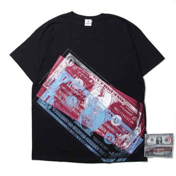 ×RINO TAGUCHI SHORT SLEEVE WITH BANKNOTE (BLK)①