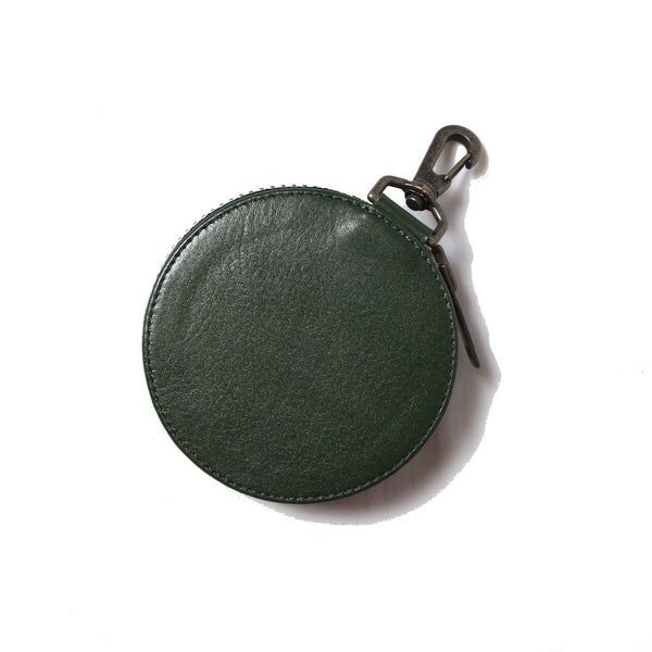 EMBROIDERY LEATHER COINCASE (945-75GAC13-4)GREEN