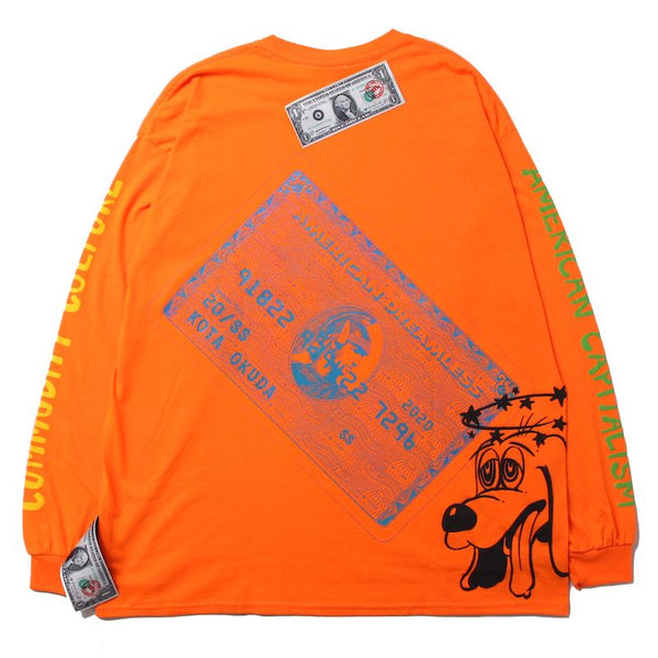 ×RINO TAGUCHI LONG SLEEVE WITH BIG PRINT (ORG/XXL)①