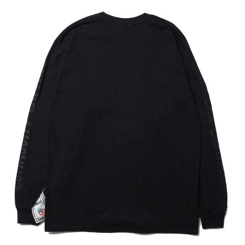 LONG SLEEVE WITH ARM PUFF PRINT (BLK)