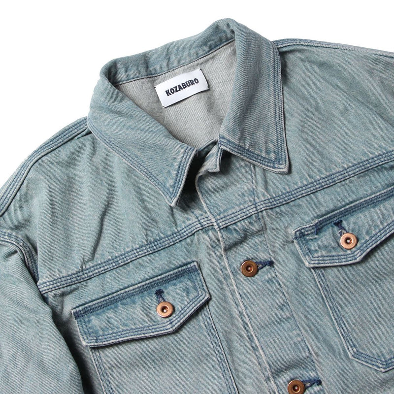 RUSTIC INDIGO DENIM OVERSIZED JEAN JACKET (BIO)