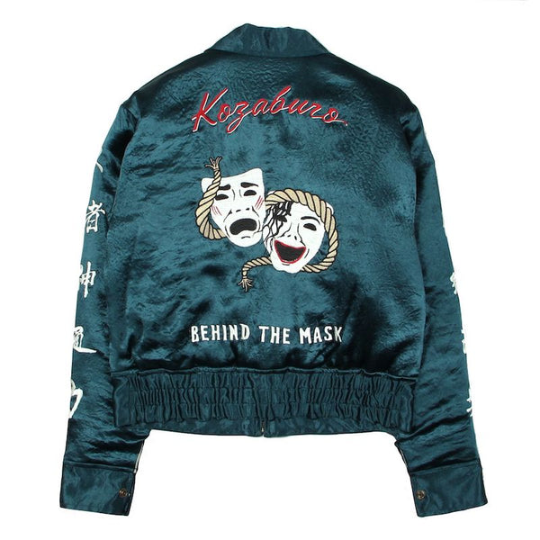 BROKEN SATIN SOUVENIR JACKET (GRN)