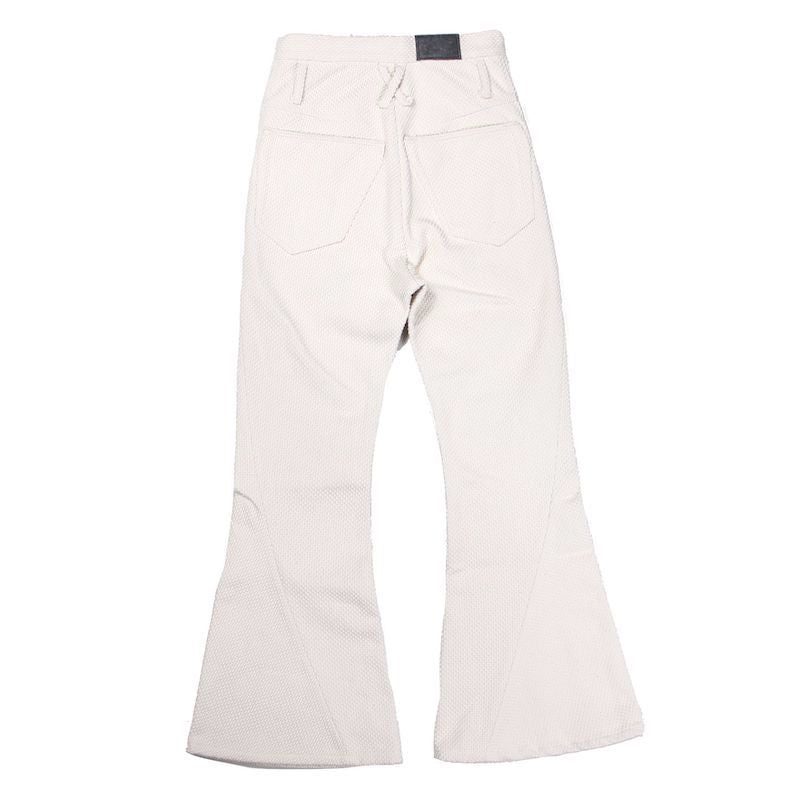 HEAVY COTTON SASHIKO LONG 3D BOOTS CUT JEANS (WHT)