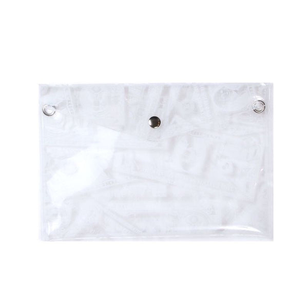 BILLS PRINT PVC POUCH (CLR)