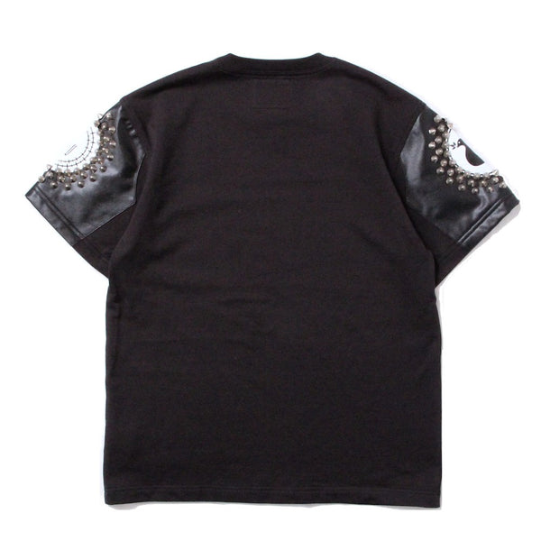 STUDDED SWEAT TEE (945-76GT162-1) CHARCOAL/BLACK