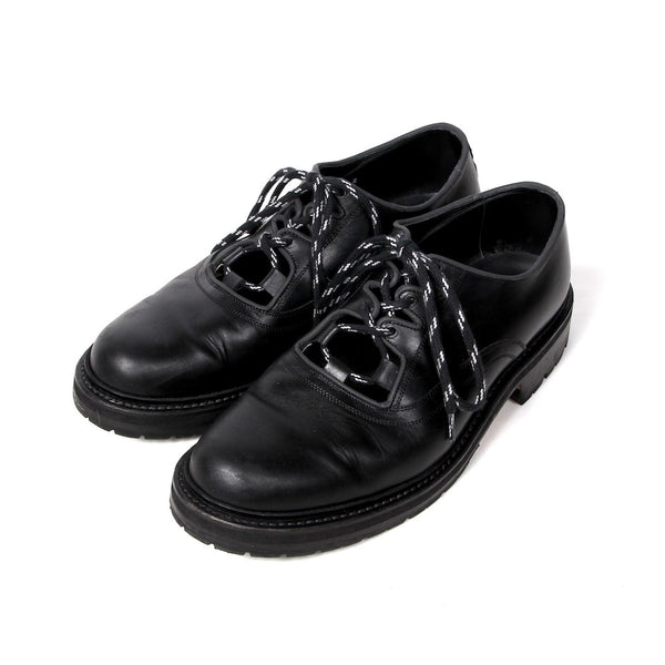 POST GILLIE SHOES (KLG-21SS EXCLUSIVE) Black