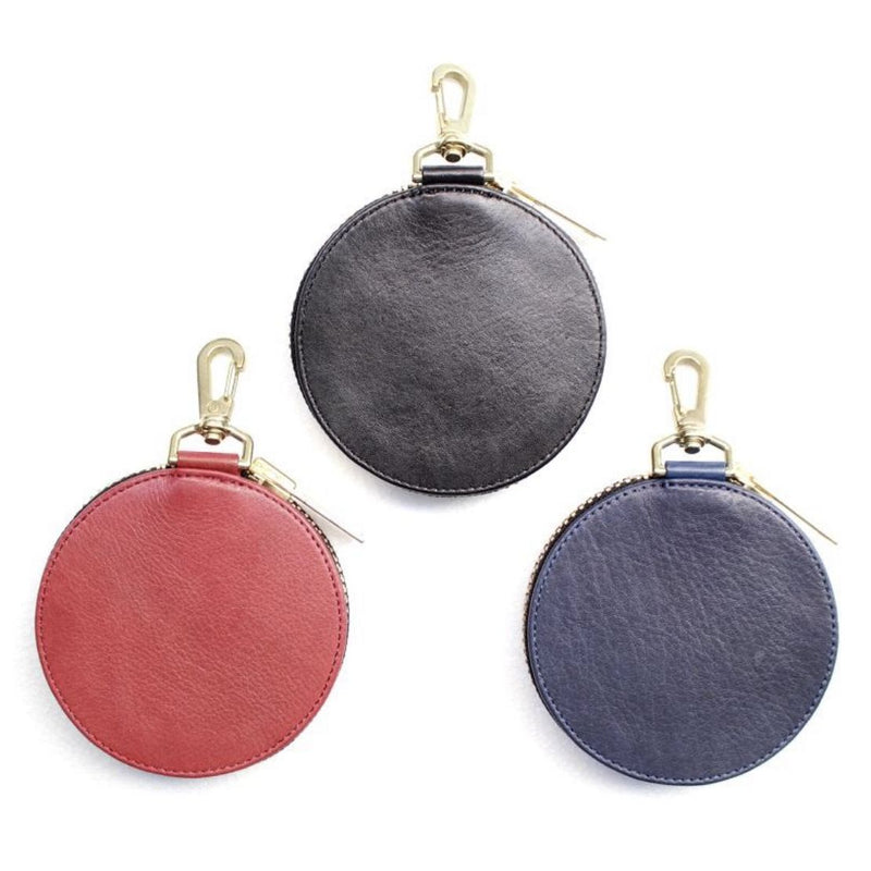 Embroidery Leather Coincase (BLK/BLU/RED)