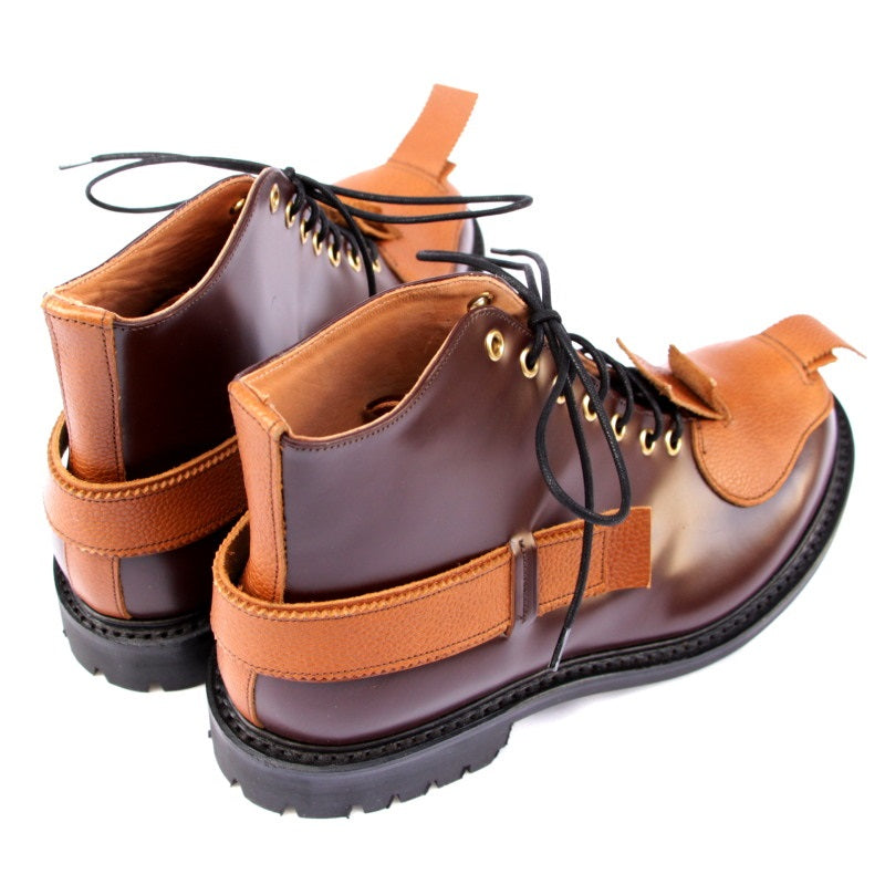 JOHN MOORE / TOE PATCH AND STRAP BOOTS (BRW)