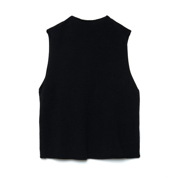 Modified Farmers Knit Vest (BLK)