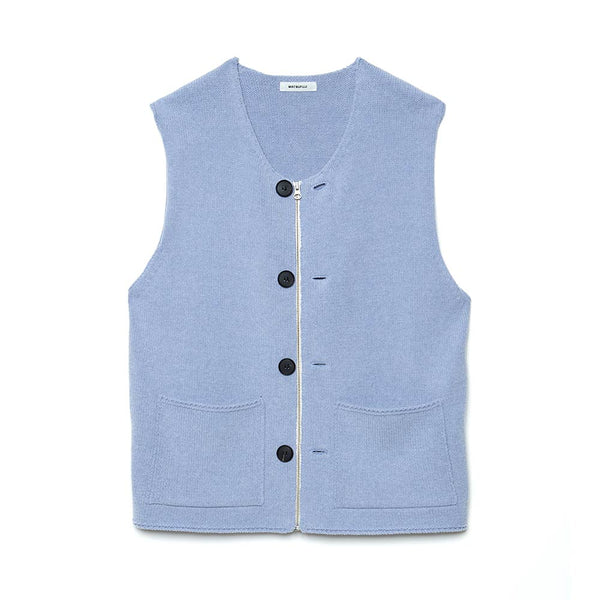 Modified Farmers Knit Vest (M211-0501) Blue