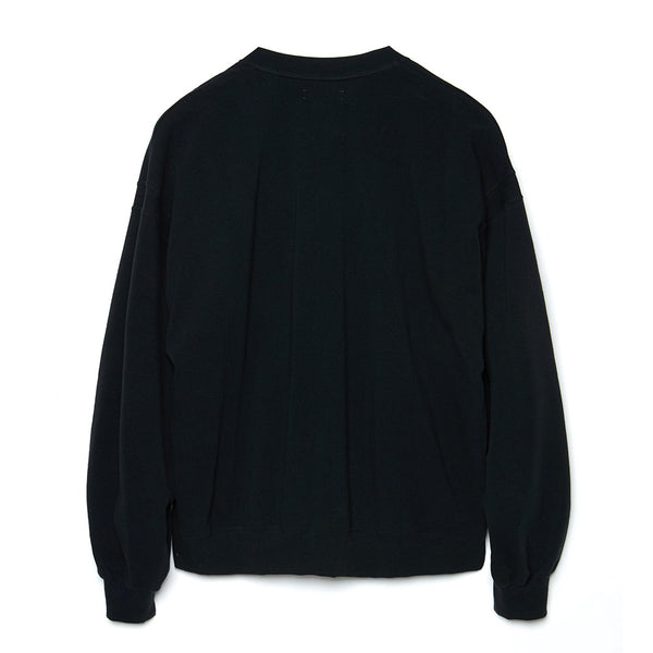 Henry Neck Sweat Shirt (BLK)
