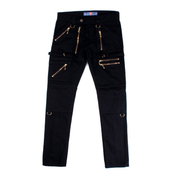 Full Zip Denim Pants (BLK)
