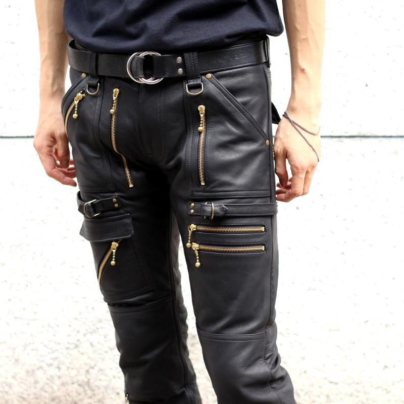 Full Zip Leather Pants (BLK)