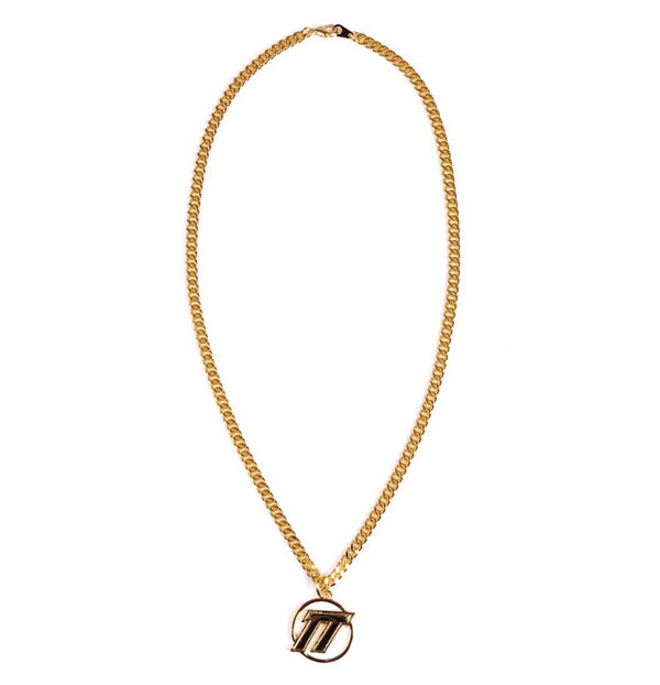 EMBLEM LOGO NECKLACE (SIL/GLD)