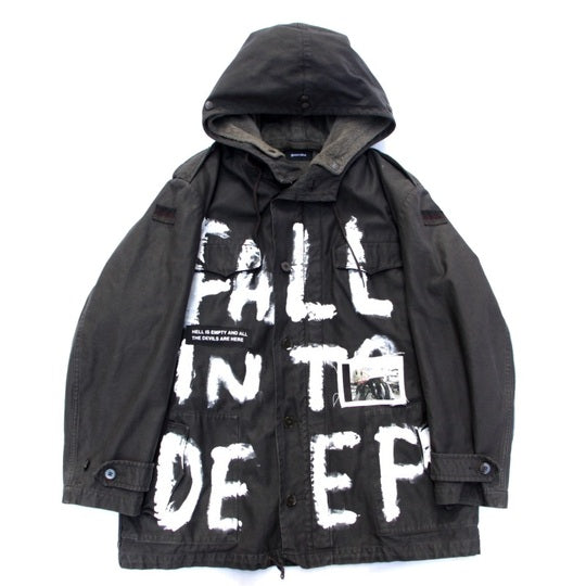 Custom Military Hooded Jacket (BLK)