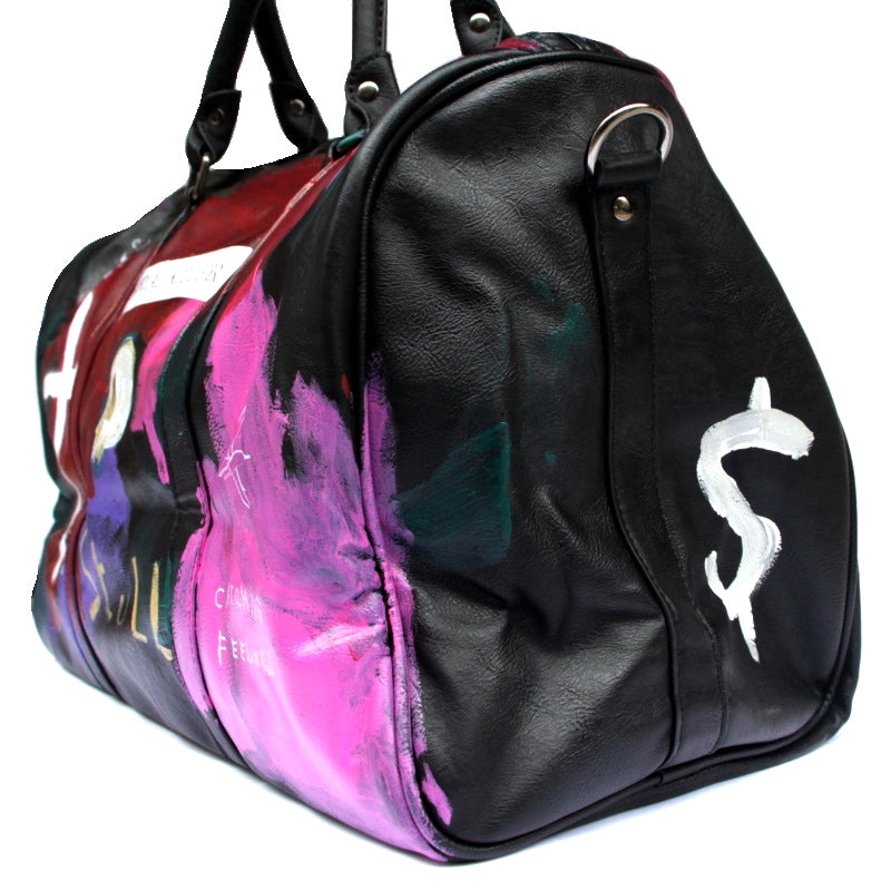 ANARCHY BOSTON BAG (BLK)