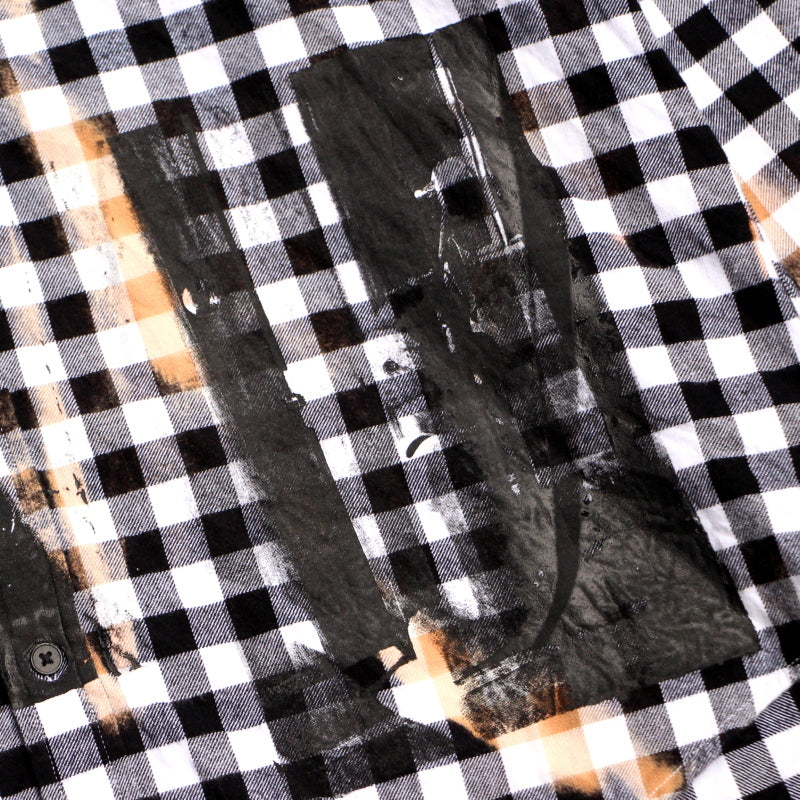 ANARCHY CHECK SHIRTS (WHT)