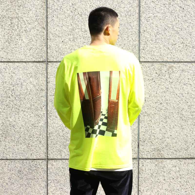 Back Photo LS Tee (YLW/PNK)